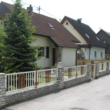 Spiegelung Haustür/Zaun