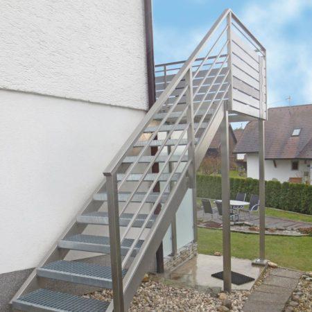 Edelstahl Außentreppe