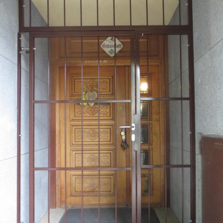 Sicherung des Eingangsbereiches
