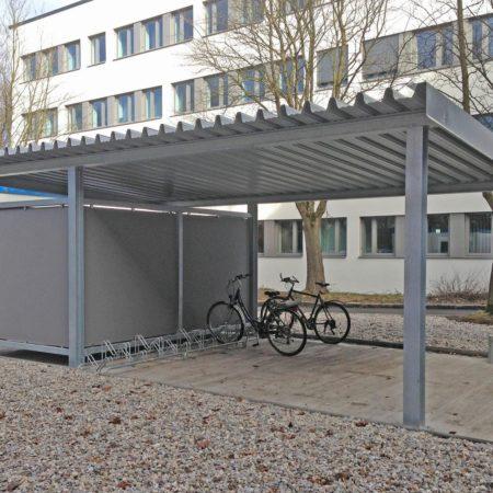 Überdachung für Fahrräder