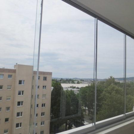 Glas Schiebewand