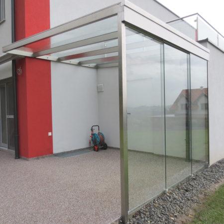 Terrassenüberdachung Glas Schiebewand