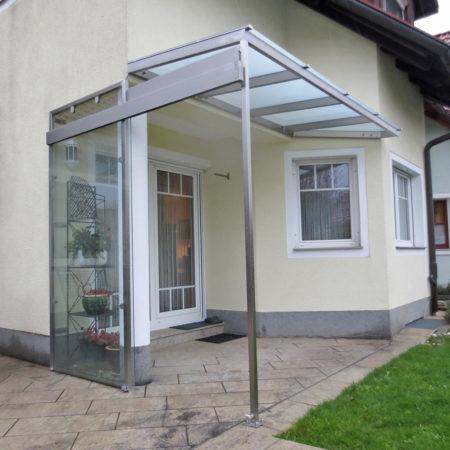 Glas Schiebewand Windschutz