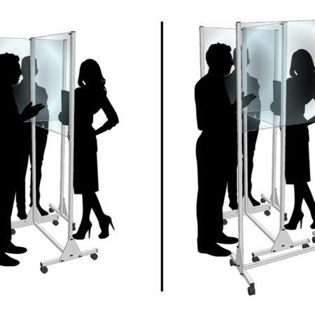 Individuell verschiebbare mobile Schutzwand